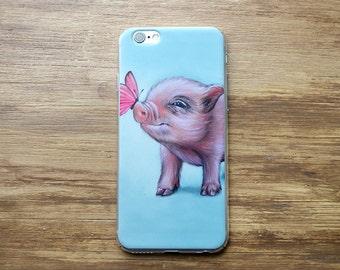 Pig phone case, pig iphone case, pig samsung case, pig mobile case, mini pig iphone case, mini pig samsung case, pig device case, mini pig