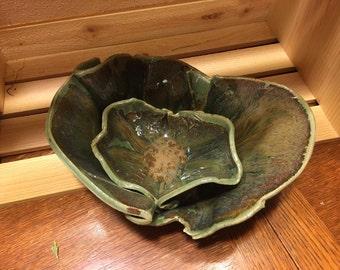 Freeform Ceramic Serving Bowl Set