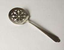 Vintage Silver Tomato Server, Silver Plated Vegetable Spoon, WM Rogers, Antique Serving Utensil, La France Pattern, Formal Silverware