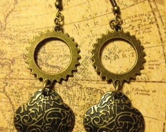 The Work and the Pattern Steampunk Earrings