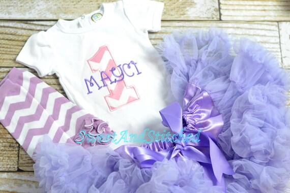 Pink and Purple Chevron First (1st) Birthday Outfit, Pettiskirt tutu - First birthday outfit, pettiskirt! pink and purple cake smash outfit
