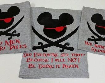 Disney World Family Matching Family T-shirts Pirate Mickey tees! /