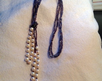 Necklace Swarovski Crystals Pearls