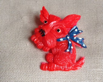"1980's ""Westy"" dog brooch"