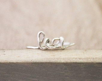 Script name ring, personalized name ring, cursive name ring, sterling silver script ring, name ring, silver name ring, sterling silver ring