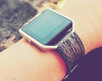 Fitbit Blaze Skin, Fitbling Accessory, Attachment, Wrap, Cover, Metallic Fitbit, Fitbling, Wearable Tech Jewelry