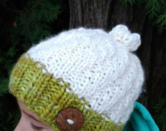 knitted hat, wool hat, pompom hat