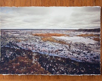 Subarctic landscape 12.5x19 inch giclee fine art photography print with torn edge