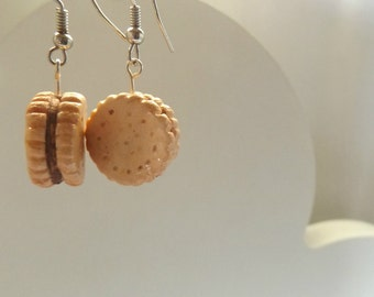 Chocolate filled Cookie Earrings