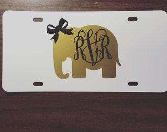 SALE Elephant License Plate