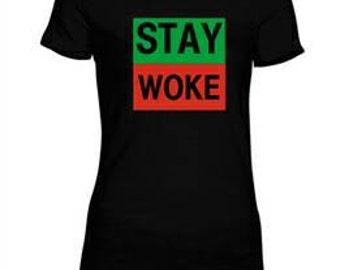 """RBG """"STAY WOKE"""" Black History Tee, African Heritage, African American tshirt, Black History Tshirt"""