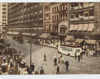 Chicago, Illinois, State Street North, V.O. Hammon vintage post card