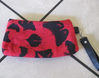 Red and Black wristlet