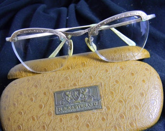 1930s GOLD FILLED Eyeglass Frames with Lenses in Original Case from Two Rivers Wisconsin