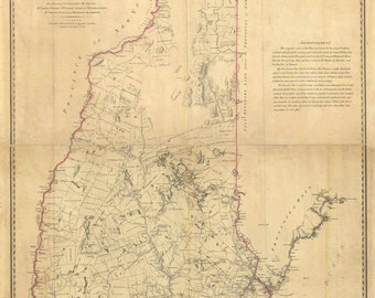 New Hampshire 1784 State Map - Samuel Holland - a detailed early map - ON SALE! - 28