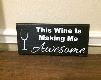 This Wine ... Handpainted wooden sign