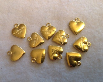 Made With Love Heart Charms (10)