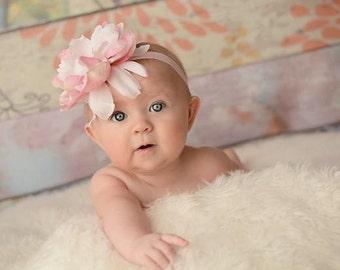 Baby Headband - Baby Girl Headband - Peony Headband- Infant Headband - Flower Headband - Newborn Headband - Newborn Photo Prop - Flower Band