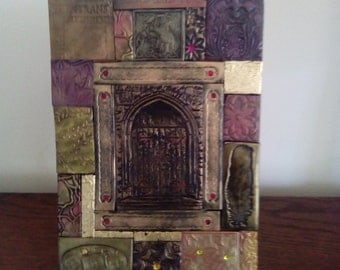 Polymer clay mosaic tile notebook/journal cover