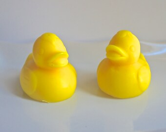 25  3D Ducks Soaps With Option of  Tags and Ribbons - Birthday Favors  - Party Favors - Baby Shower Favors