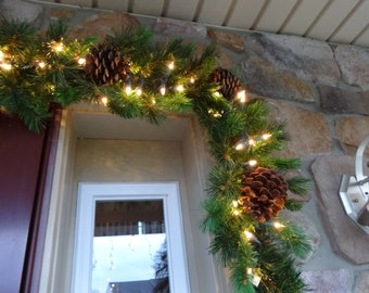 Christmas Garland, Mantle Garland, Outdoor Garland, Mixed Pine Garland, Staircase Garland, Fireplace Garland, Christmas Decoration