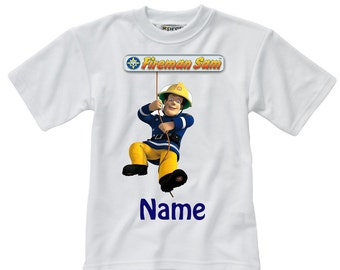 Personalised Fireman Sam - Named - Style 1