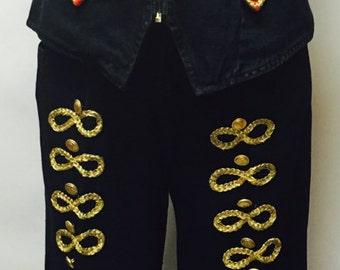 Vintage Don't Stop Denim Vest & Pant
