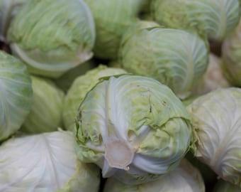 Boston Haymarket, Cabbage, Vegetable Photography, Farmers Market, North End