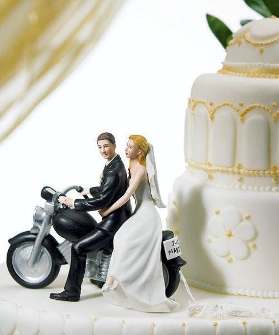 Motorcycle Harley Wedding Bike Cake Topper Bride Amp Groom Top