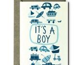 It's a Boy - Greeting Card