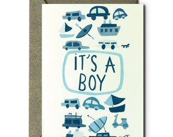It's a Boy - Greeting Card