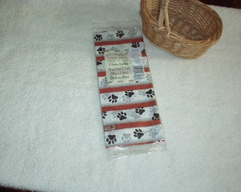1990's Designer PET PAWS Paper Gift TISSUE(The Finishing Touch)American Greetings (5-Sheets) New, Sealed, Rare, Gorgeous Discontinued Sheets