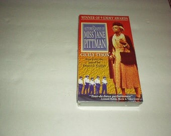 1993 The Autobiography of Miss JANE PITTMAN VHS Starring Cicely Tyson - Winner of 9 Emmy Awards (Based on Novel by Ernest Gaines) New, Rare