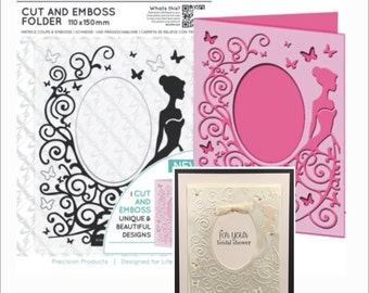 DRESS embossing folder - XCUT cut & emboss embossing folders for scrapbooking and cardmaking - Cuttlebug Compatible folders