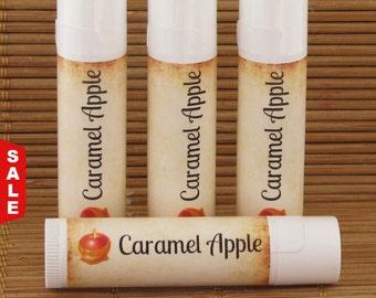 Sale -  Caramel Apple Lip Balm - Handmade All Natural Lip Balm