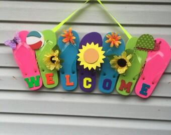 Flip Flop Welcome Wreath