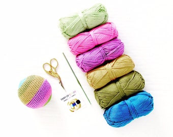 Soft plush ball , Crochet Amigurumi baby toy