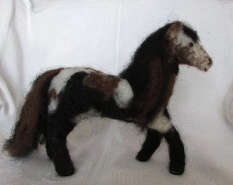 Mustang Pinto Horse - Felted Wool and Alpaca