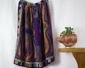 Silk Paisley Skirt