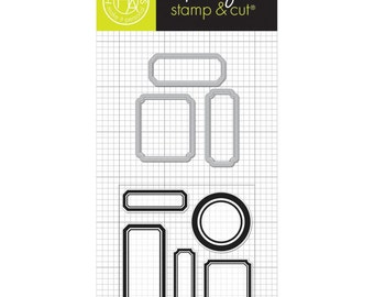 Clearly Kelly Planner Labels Hero Arts Clear Stamp & Cut Die Set DC180 NEW!