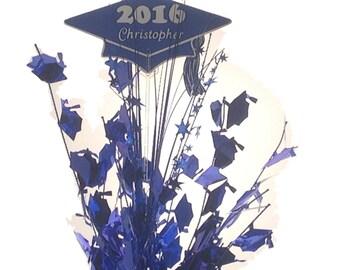 Personalized year & name Metallic Graduation Balloon Weight Centerpiece
