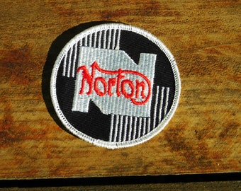Vintage 70s Norton Motorcycle Sew On Patch