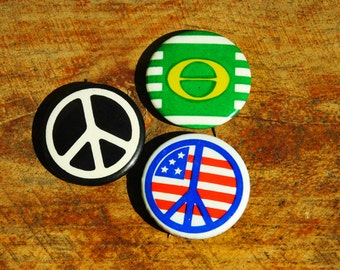 Vintage 60s Peace Greenpeace Ecology Easy Rider Vietnam Protest Pinback Button Lot