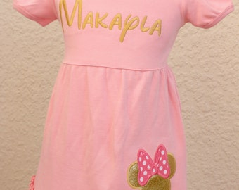 Minnie Mouse Dress with monogram/name option