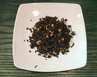 Wind from the North Pole - Green tea w/mint & dried oranges