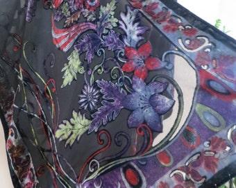 Burnout Velvet Kimono,  Womens Fringed Kimono, Velvet Kimono, Evening Jacket, Christmas Top