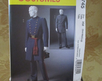 McCall's Costume Pattern 4745 Men's Civil War Coat and Trousers (S-M-L)