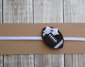 Football Headband, Infant Headband, Skinny Headband, Toddler Headband, Sports Headband