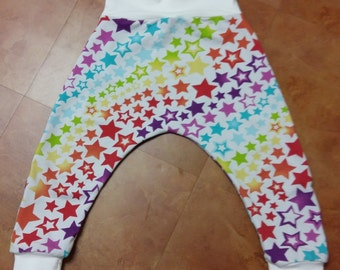 rainbow star's harem pants (1-2y)
