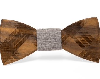 "Wooden Bowtie - ""Floyd"" // Gifts for Him // Groomsmen Gifts"